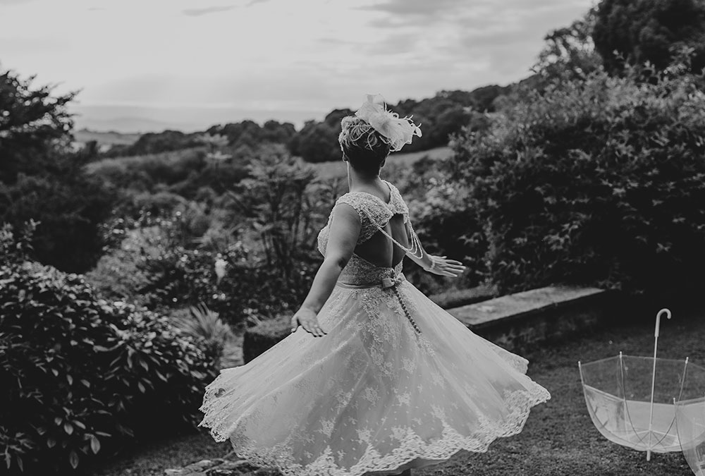 Bride Enjoying The View
