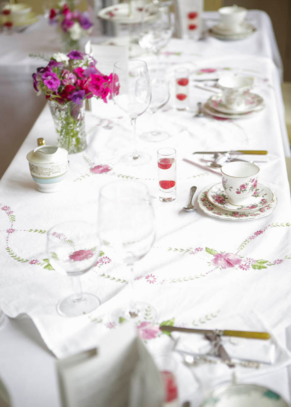 Vintage Tea Table Decoration